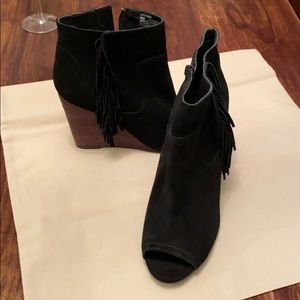 Abound wedge peep toe booties !